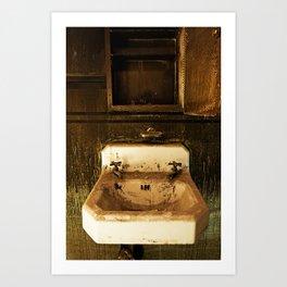 Sink Grunge Art Print