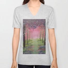 Into the path of Happiness Unisex V-Neck