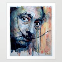 dali Art Prints featuring Dali by Paul Lovering Watercolors