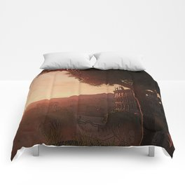 Sunset on ancient Rome Comforters