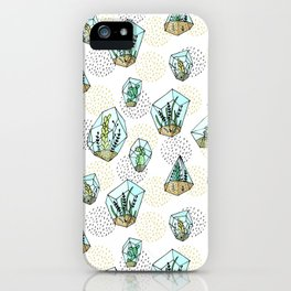 Succulents in the glass vase iPhone Case
