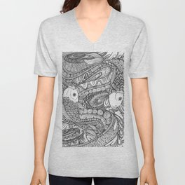 KOI FISH, A POWERFUL AND ENERGETIC FORCE.... Unisex V-Neck