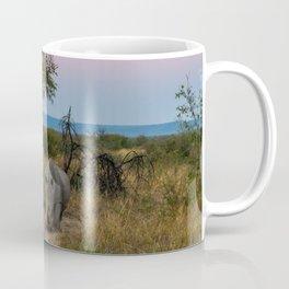 A Rhinoceros and a Sunrise in South Africa Coffee Mug