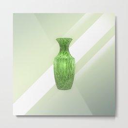 Decorative Green Vase Metal Print