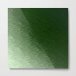 Green Ombre Metal Print