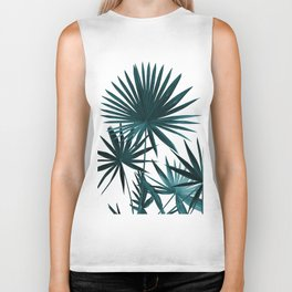 Fan Palm Leaves Jungle #1 #tropical #decor #art #society6 Biker Tank