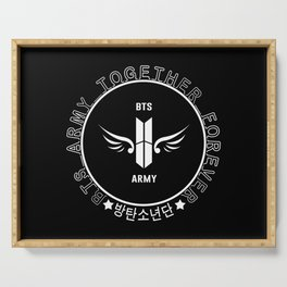 BTS ARMY Together Forever!! (Black) Serving Tray