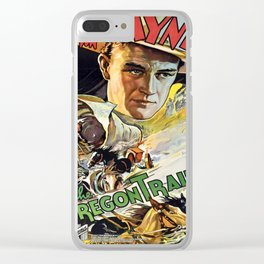 Vintage poster - The Oregon Trail Clear iPhone Case