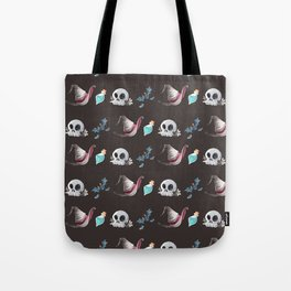 Halloween Witchy Pattern Tote Bag