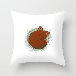 Little Fox - Cute Animals Throw Pillow