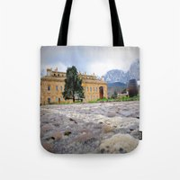 castle Tote Bags featuring castle by  Agostino Lo Coco