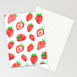 Watercolour Strawberries Stationery Cards