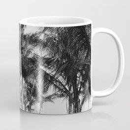 Florida Royal Palm Trees Black & White Photograph Coffee Mug