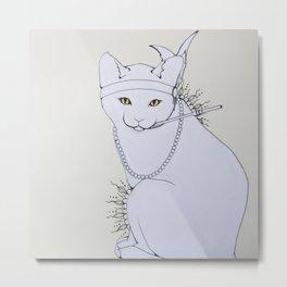 Rad Cat Metal Print