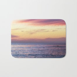 Pink Sunset over Carmel Beach Bath Mat