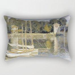 1874-Claude Monet-The Argenteuil Bridge-60 x 80 Rectangular Pillow