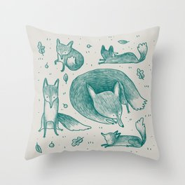 Fox Pattern Throw Pillow