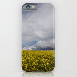 Sky and yellow iPhone Case