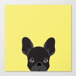 French bulldog banana yellow Canvas Print