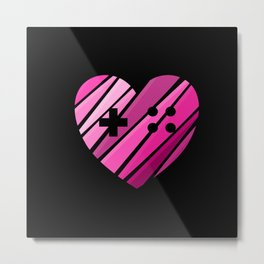 Gamer Girl at Heart Metal Print