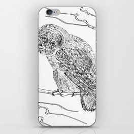 Owl In Tree (Print) iPhone Skin