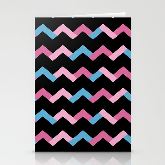 Geometric Chevron Stationery Cards