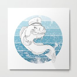 Man I Love Fishing Waller Fish Metal Print