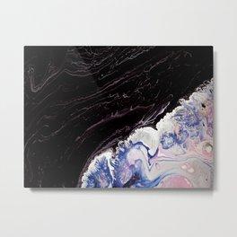 Purple waves, acrylic on canvas Metal Print