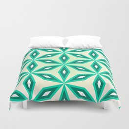 Diamonds and flowers Duvet Cover