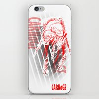 carnage iPhone & iPod Skins featuring CARNaGE by Psychojoe151