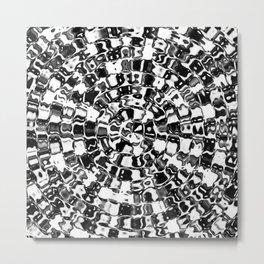 Black to White Mosaic Metal Print