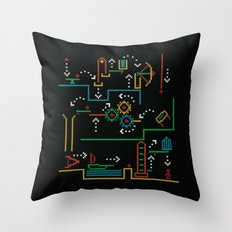 incredible machine Throw Pillow