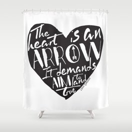 Heart is an Arrow - Six of Crows design Shower Curtain