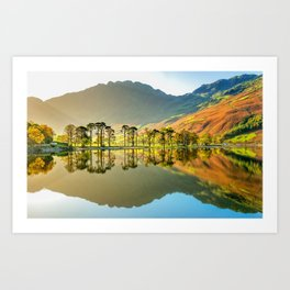 Buttermere Lake 4k Buttermere Valley english landmarks Cumbria England UK Art Print