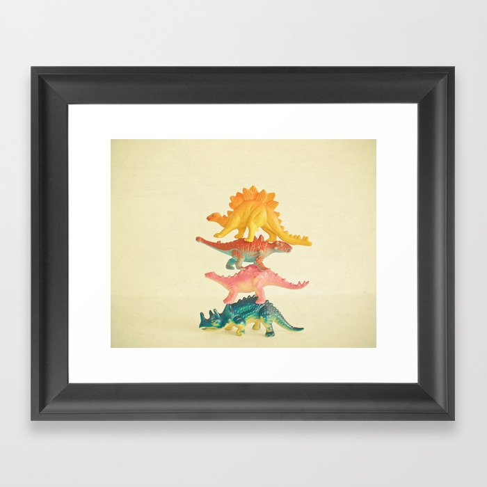 Dinosaur Antics Gerahmter Kunstdruck