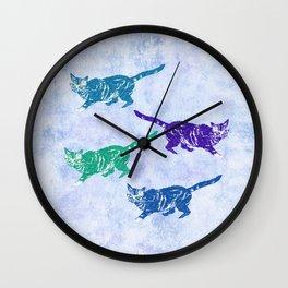 Creeping kitties Wall Clock