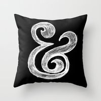 ampersand Throw Pillows featuring Ampersand by Artworks by Pablo Zarate Inc.