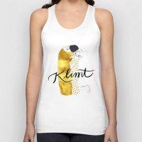 klimt Tank Tops featuring Klimt golden by Henrique Nobrega