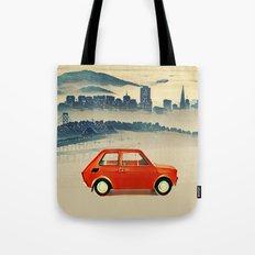 Red Polski Fiat  Tote Bag