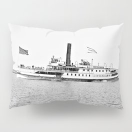 Ticonderoga Steamer on Lake Champlain Pillow Sham