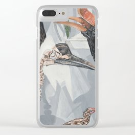 Hornbill Exhibit Clear iPhone Case