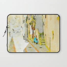 Tortora alley with scooter Laptop Sleeve