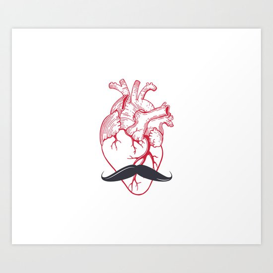 Hipster at heart Art Print
