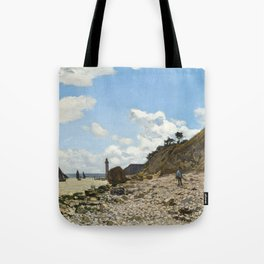 Monet - The Beach at Honfleur, 1864 Tote Bag