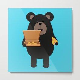 Black Bear with Metal Print
