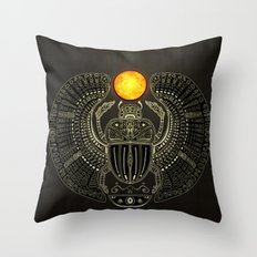 Sacred Scarab (v2) Throw Pillow