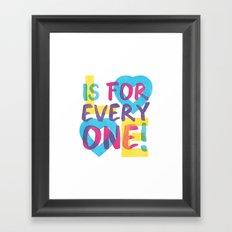 Love's Spectrum Framed Art Print