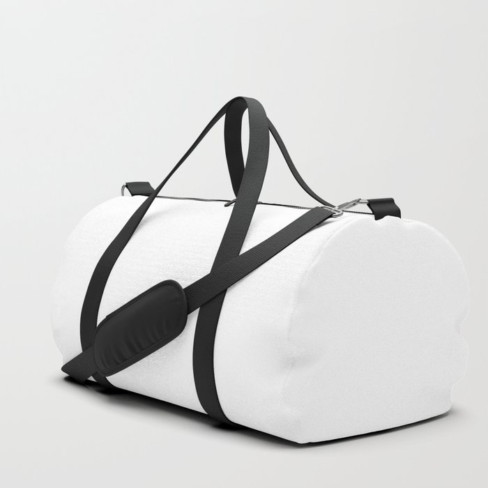 White Minimalist Duffle Bag