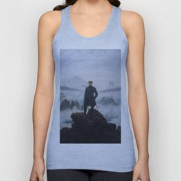 Wanderer above the Sea of Fog Unisex Tank Top