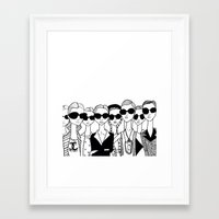 vogue Framed Art Prints featuring Vogue by Rosalia Mendoza